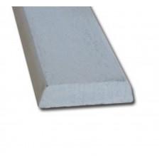 HARDHOUT KOPLAT B (SCHUIN) 16 X 45 MM WIT GEGROND 490 CM