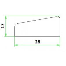 MERANTI GLASLAT A4 17-28 MM VOLHOUT 80 MU WIT GEGR. (VALLEND)