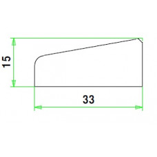 MERANTI GLASLAT A6 15-33 MM VOLHOUT 80 MU WIT GEGR. (VALLEND)