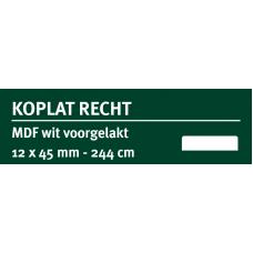 LWK: GREENLINE MDF KOPLAT RECHT E 12 X 45 MM WIT GEGROND 244 CM
