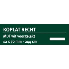 LWK: GREENLINE MDF KOPLAT RECHT E 12 X 70 MM WIT GEGROND 244 CM