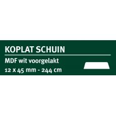 LWK: GREENLINE MDF KOPLAT SCHUIN B 12 X 45 MMWIT GEGROND 244 CM