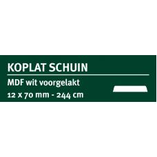 LWK: GREENLINE MDF KOPLAT SCHUIN B 12 X 70 MM WIT GEGROND 244 CM