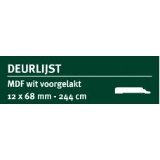 GREENLINE MDF DEURLIJST CHAMBRANT 12X68 MM WIT GEGROND 244 CM