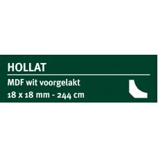 LWK: GREENLINE MDF HOLLAT 18 X 18 MM WIT GEGROND 244 CM