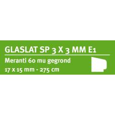 LWK: MERANTI GLASLAT E1 17 X 15 MM RONDOM 60 MU WIT GEGROND 275 CM