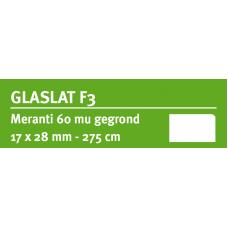 LWK: MERANTI GLASLAT F3 17 X 28 MM RONDOM 60 MU WIT GEGROND 275 CM