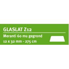 LWK: MERANTI GLASLAT Z12 12 X 32 MM RONDOM 60 MU WIT GEGROND 275 CM