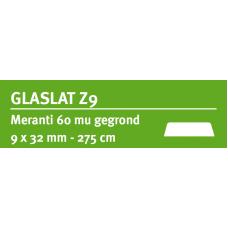 LWK: MERANTI GLASLAT Z9 9 X 32 MM RONDOM 60 MU WIT GEGROND 275 CM