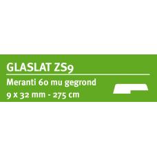LWK: MERANTI GLASLAT ZS9 9 X 32 MM RONDOM 60 MU WIT GEGROND 275 CM