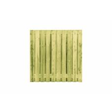 GESCHAAFDE 21-PLANKS GRENEN RECHT SCHERM 180 X 180 CM