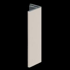 EINDPROFIEL 17MM KERALIT CREME CLASSIC NERF L= 4000 MM