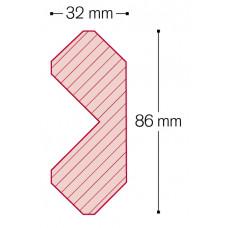 CAPE COD BUITENHOEK (1-DELIG) 3050X35X83 MM C060 ZWART